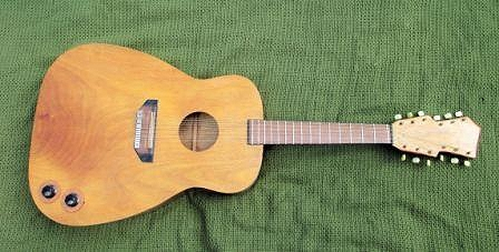 The giant plywood 12 string that started it all off in 1963
