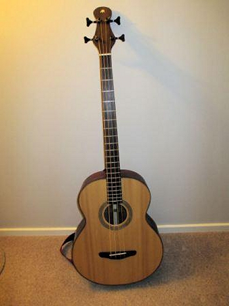 An acoustic bass guitar completed in 2013